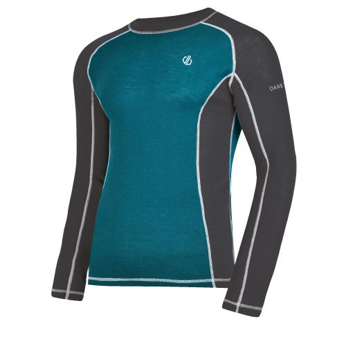 Men's Advanced Wool Base Layer Set Ebony Ocean Depths